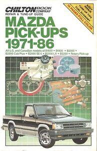 Mazda Pick-Ups 1971-86 Chiltons Repair & Tune-Up Guide  / Workshop Manual 7659