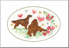 Irish Setter Birthday Card Embroidered by Dogmania