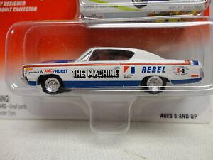 "Johnny Lightning 1970 AMC REBEL ""THE MACHINE"" w/RR '70 Classic Plastic RWB"