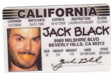 Jack Black - King Kong / the School of Rock actor card Drivers License