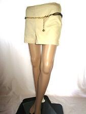 H&m Damen Casual Taillierte Klassische Mod beige Baumwolle Hotpants Shorts Sz M AF20