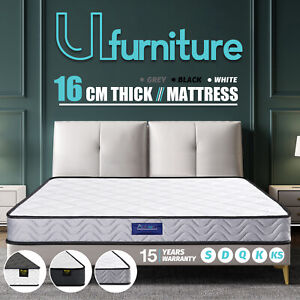 Mattress 16CM Single Double Queen King Bed Size Memory Foam Firm Bonnell Spring