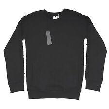 NWT $470 Karl Lagerfeld Mens Black French Terry Knit Raw Edge Sweatshirt XL RARE
