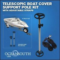 """rubber tip grommet Aluminum Boat Cover Support Pole Adj 36/"""" to 64/"""" w//snap TL"""