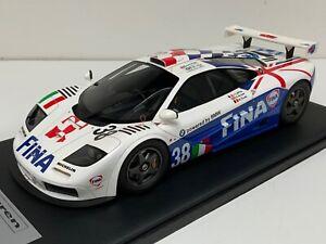 "1/12 scale Mclaren F1 GTR 1996 24 H Of LeMans car #38 ""FINA "" Leather Base"