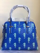 NWT Kate Spade Cedar Street Seahorses Maise Handbag Purse $278 Adventure Blue