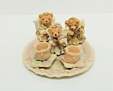 Miniature Angel Bears Resin Tea Set 10 pcs