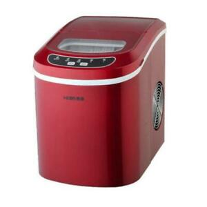 Auto Ice Cube Maker Portable Freezer Machine Home Red