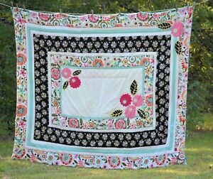 POTTERY BARN TEEN Seraphina pinwale floral Boho/hippie COMFORTER TWIN PREOWNED