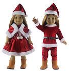 2 Set Doll Clothes FOR 18'' American Girl Christmas Xmas Costume Uniform