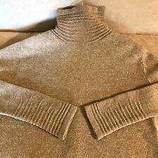 Chaiken camel brown long sleeve turtleneck sweater ribbed trim top M