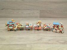 1996 Cherished Teddies 6 Piece Lionel Train Santa Express Christmas Decoration
