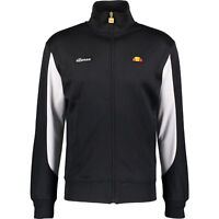 ELLESSE Men's Black & White Performance Track Top, Medium