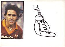 Bruno CONTI AS ROMA WM 82 ITALIA CALCIO ORIGINALE AUTOGRAFO ITALY (o-6090