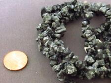 Snowflake Obsidian Nugget Chips Beads Full Strand 34 inch Semi Precious Stone