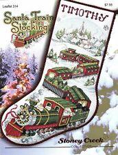Santa Train Stocking LFT314 by Stoney Creek cross stitch pattern