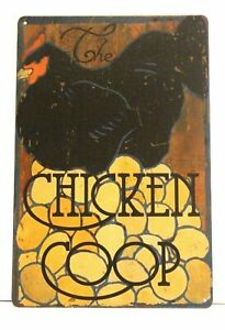 Chicken Coop Farm Fresh Eggs Tin Poster Sign Vintage Style Country Market Shop 2