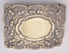 Scottish Kilt Belt Buckle Thistle Crest Antique Finish/Piper Belt Buckles Antiqu