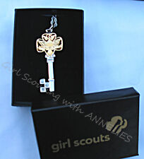 """HERITAGE KEY Girl Scout NECKLACE 24"""" Boston Twist Chain Collector Leader BARGAIN"""