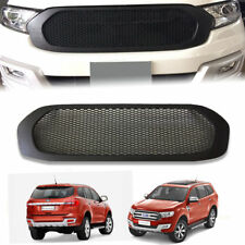 FRONT GRILL MATTE MATT BLACK NET GRILLE GRILL FIT FOR FORD EVEREST 2015-2017