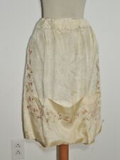 Edwardian Hand Embroidered Silk Dressy Apron