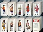 Tobacco Card Set, Carreras, Black Cat, MILITARY UNIFORMS, 1660 to 1960