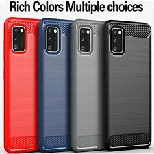 Para Samsung Galaxy S8 S9 S10 A10 A20e A40 A50 A70 Fibra de Carbono Negra Estuche Teléfono