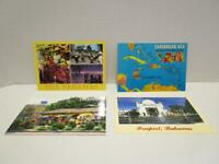 UNPOSTED Mixed Lot of 4 Caribbean Sea & The Bahamas Postcards