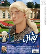 Mens Long Blonde Wig Prince Charming Fairy Tale Fancy Dress