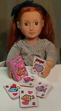 "Mini Go Fish Playing Card Deck fits American Girl 18"" Dolls"