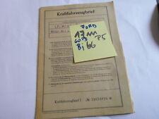 Brief Oldtimer 1966 Ford 17m/21 60 PS 17 m P5 31F 1,5 Liter Taunus Datenblatt WD
