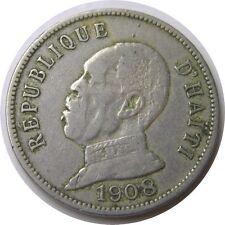elf Haiti 50 Cent 1908 President  Waterbury Mint