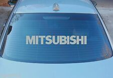 MITSUBISHI LARGE REAR WINDOW STICKER GRAPHICS 580mm x 85mm CHOICE OF COLOURS