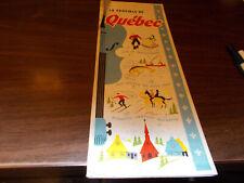 1957 Quebec Province-issued  Vintage Road Map