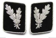 WW2 German Waffen elite  Oberfuhrer Collar Tabs ON Black background