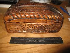 Hans Kleiss Signed Ornate & Detailed Art Deco OWL Carved & Hinged Trinket Box