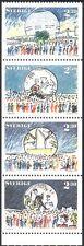 Sweden 1989 Globe Arena/Ice Hockey/Music/Buildings/Sports 4v bklt pane (n30751a)