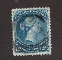 #28  - Canada - 1868  - 12½  Cent -  Used   -  F/VF  - superfleas