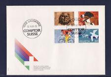 SUISSE  enveloppe comptoir 1983  divers dont chiens cycliste  num: 1185/86/87/88