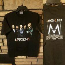 Maroon 5 Shirt Medium 2007 Concert Tour Exclusive graphics locations Black New