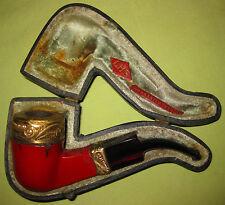1920s LHS Gold Plated PipeTurkish Design-- Original Case