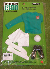 VINTAGE ACTION MAN 40th SPORTSMAN CARDED FOOTBALL CLUB GREEN JUMPER WHITE SOCKS