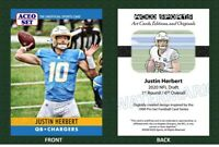 2020 Justin Herbert '90 Pro Set Style Art Card & Originals Football RC Chargers