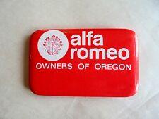 Vintage Alpha Romeo Owners of Oregon Car Club Pinback Name Badge