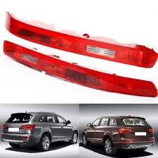 2x Rear Left + Right Bumper Reverse Tail Light Reflectors For Audi Q7 2006-2015
