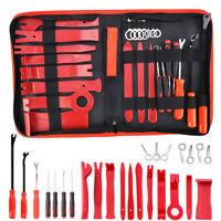 25Pcs Plastic Car Door Panel Trim Removal Tool Kit Audio Radio Pry Molding Plier