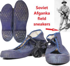 SIZE: 41  Soviet Afganka field sneakers Army Soldier Boots 1