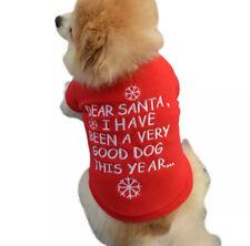 DOG PUPPY CHRISTMAS VERY GOOD DOG RED FLEECE JUMPER PYJAMA TOP CLOTHING FREEPOST