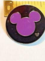Disney Hidden Mickey Pin 2006 Pin Trading Black And Purple Mickey ~ Ships FREE