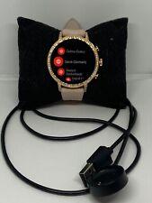 Fossil Gen 4 FTW6015 Women's Pink Leather Digital Dial Wrist Smart Watch NA322